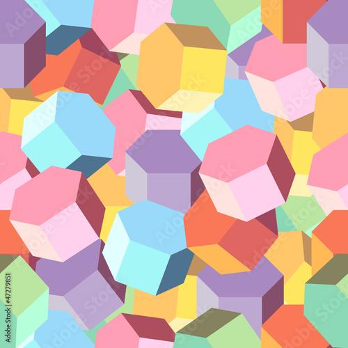 Naklejka Vector tle wielu kolorowych romb