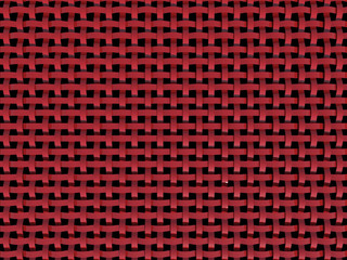3D red plastic net - abstract patern-black background