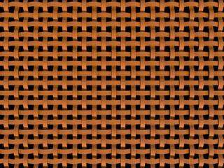 3D orange plastic net - abstract patern-black background