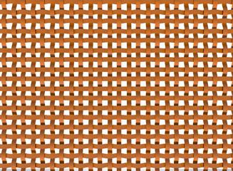 3D orange plastic net - abstract patern-white background