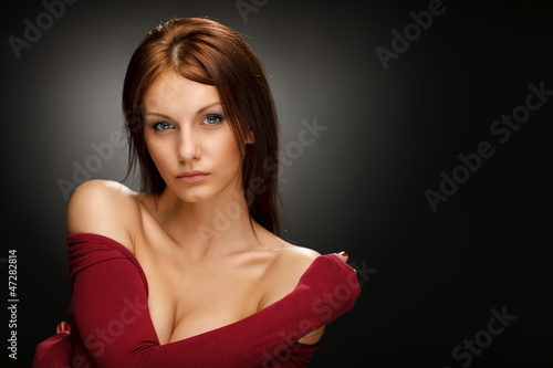 Sensual picture of young beautiful female