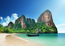 Railay Beach i Krabi Thailand
