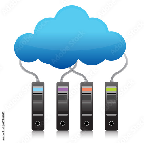 server backup cloud computing concept