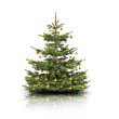 Weihnachtsbaum mit goldenen Kugeln