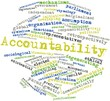Word cloud for Accountability