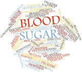 Word cloud for Blood sugar
