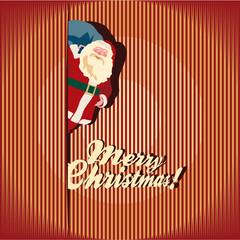 Christmas Greeting Card. Santa Claus.
