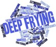 Word cloud for Deep frying