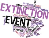 Word cloud for Extinction event