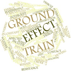 Word cloud for Ground effect train