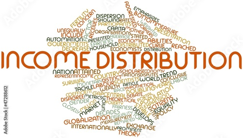 Word cloud for Income distribution