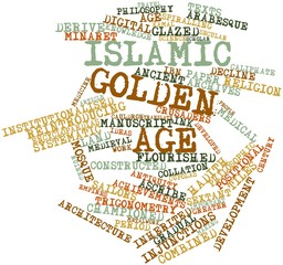 Word cloud for Islamic Golden Age
