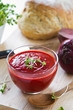 Beetroot with tomato and carrot soup