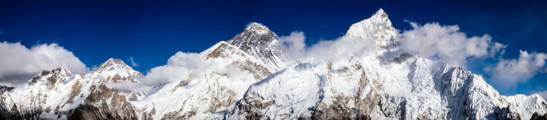 Mt. Everest, Lhotse, Pumori