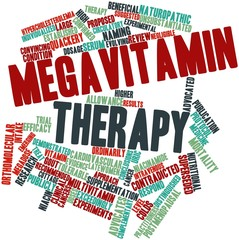 Word cloud for Megavitamin therapy