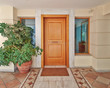 contemporary house door, Athens Greece