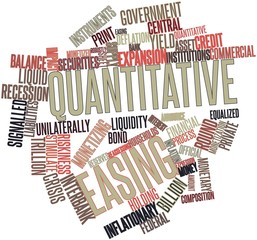 Word cloud for Quantitative easing