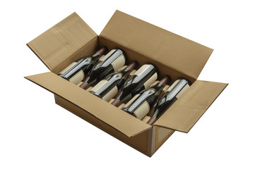Wine bottles now shipped in cardboard boxes
