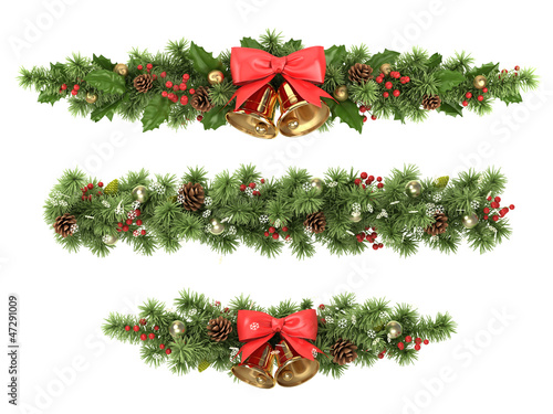 Christmas tree borders. - 47291009