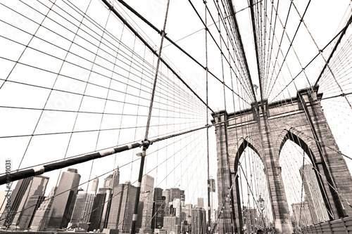 Fototapety, obrazy : Manhattan bridge, New York City. USA.
