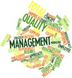 Word cloud for Total quality management