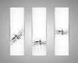 Abstract technology dynamic fade banner background