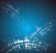 Abstract new technology dynamic fade background