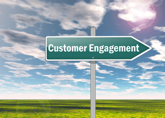 "Signpost ""Customer Engagement"""