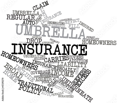 Word cloud for Umbrella insurance