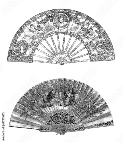 Ancient Fans - Eventails - Fächer - 18th-19th century