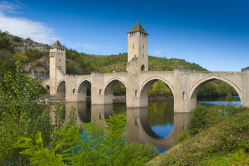 Medieval Valantre bridge in France