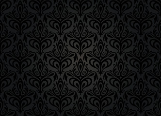 black vintage wallpaper background