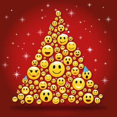 Sapin de Noël Smileys-1