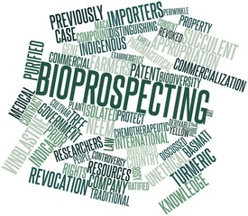 Word cloud for Bioprospecting