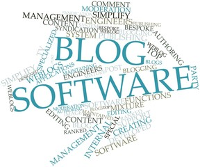 Word cloud for Blog software