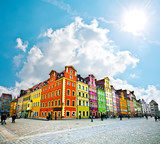 Fototapety Wroclaw City center, Market Square tenements