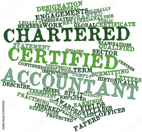 Word cloud for Chartered Certified Accountant
