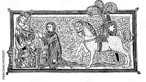 Scene Middle-Ages : in Homage to the King - 14th century