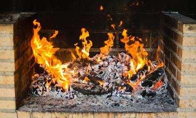 barbacoa fuego
