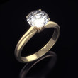 Diamond ring isolated with clipping path