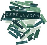Word cloud for Depression