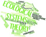 Word cloud for Ecological systems theory