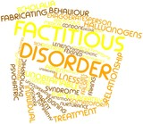 Word cloud for Factitious disorder poster