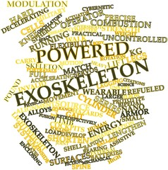 Word cloud for Powered exoskeleton