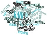 Word cloud for RAID poster
