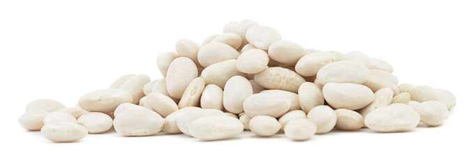 Heap of beans on white background