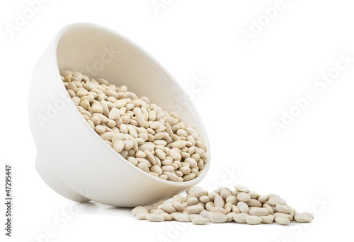 Kidney beans on bowl isolated on white background