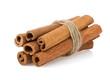 cinnamon sticks on white