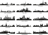 Fototapety vector silhouettes of the city skylines