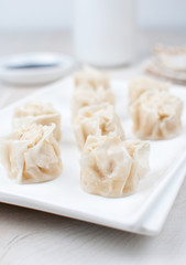 Dumplings with crab meat